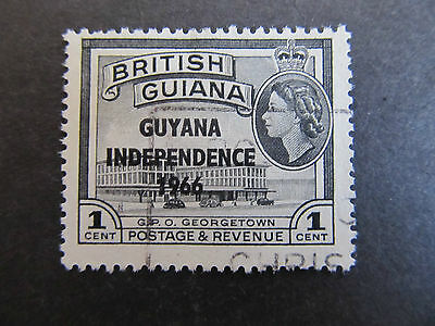1966/67 - Guyana - Surcharged In Black - Scott 7 A60 1C