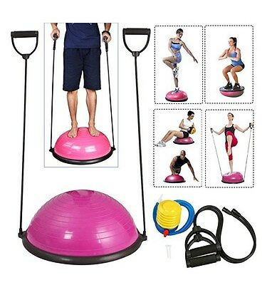 Workout Equipment For Women Home Yoga Training Bosu Ball Trainer With Pump Rose
