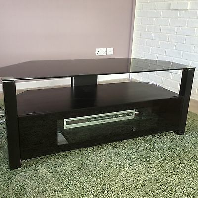 Alphason 55 Black Glass TV Stand/Cabinet