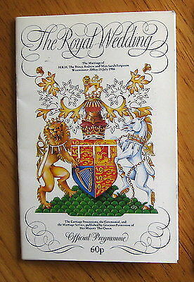 The Royal Wedding Official Programme of Prince Andrew and Sarah Ferguson 1986