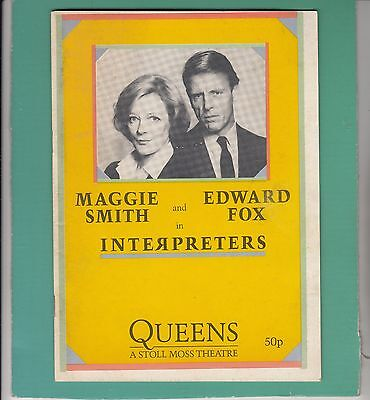 1985 Queen's London Theatre Programme - MAGGIE SMITH (16) - EDWARD FOX