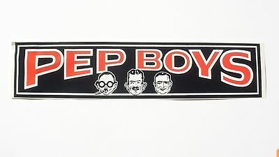 Pep Boys.. Vintage Oil Can..2 Bumper Stickers..