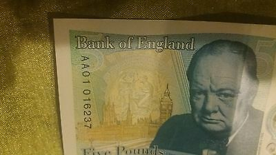 Rare  new £5 polymer note