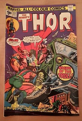 Marvel comic The Mighty Thor. July 1975. #237. Stan Lee.