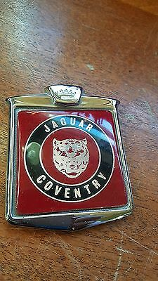 Lovely Rare Jaguar Coventry Classic Car Grill/badge Bar Badge, Good Used.