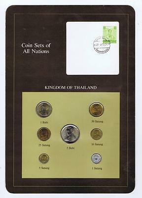Kingdom of Thailand 7 pc Mint set BU Coin Sets of All Nations stamp