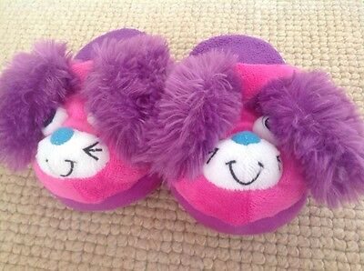 Kids Stompeez Slippers Size XS-kids Animal Pink/purple Slippers-excellent