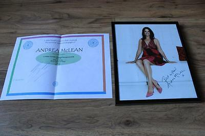 ANDREA MCLEAN ORIGINAL SIGNED 10x8 FRAMED PICTURE. LOOSE WOMEN. ITV.