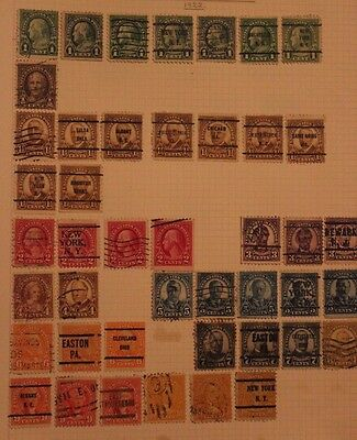 Collection of USA stamps many precancels 12 photos