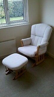 Rocking nursery chair and foot stool