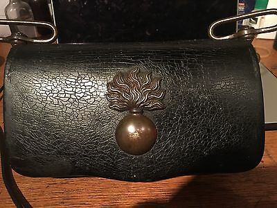 Original French  Leather Cartridge Box for Cavalry
