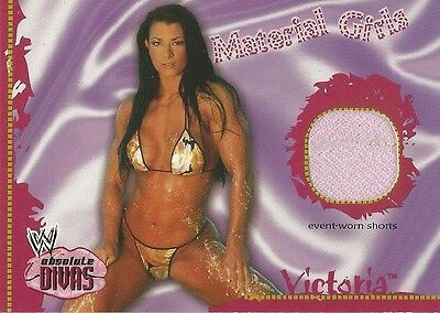 WWE WWF Absolute Divas Trading Cards Fleer 2002 Material Girls Victoria Relic