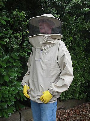 PREMIUM QUALITY Bee Smock, Round Hat Veil - Olive. All Sizes