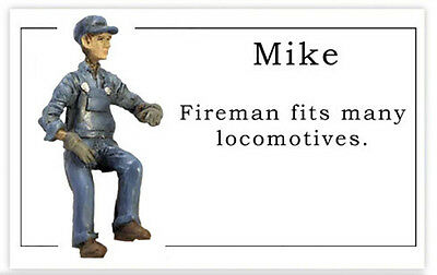 G Scale Figures 1:20.3 Mike the Fireman from RailRoadAve Models
