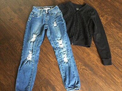 Justice Girls Jegging Jeans and Top - Size 7/8 - VERY NICE!!!