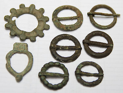 BRONZE MEDIEVAL fibula  BIG KIT From northern Europe.
