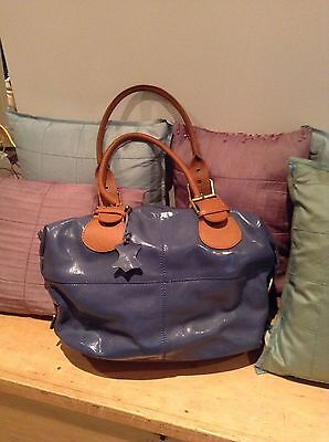 Boden, Blue Patent Leather handbag