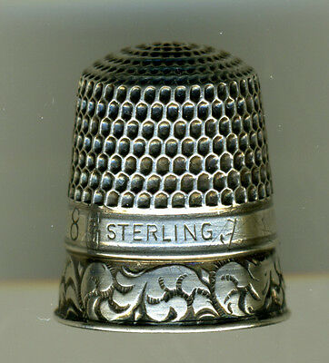 Lot of 2 Goldsmith Stern Sterling Silver Thimbles