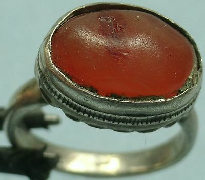 19Th C. Silver Ring With Stone