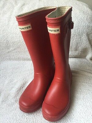 Hunter Welly Size 2 Red