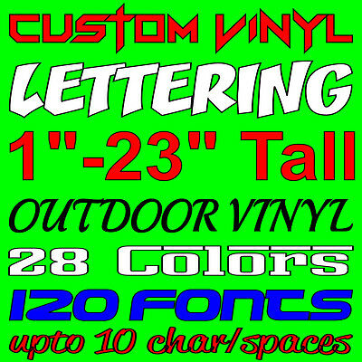 Custom Vinyl Lettering Personalized Car Window Laptop Wall Sign Decal Sticker