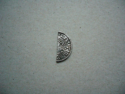 Hammered Silver Coin Cnut Cut Halfpenny