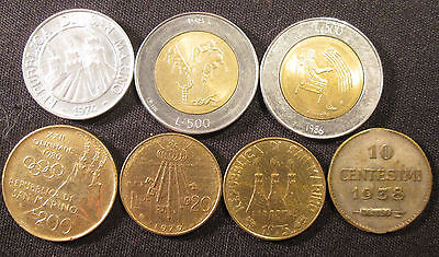 7 Different Coins from San Marino