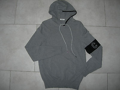 Pull gris à capuche homme Bikkembergs Taille L Neuf