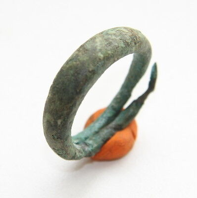Ancient Old Viking Bronze Decorated Ring (MAX)