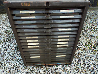 Vintage Industrial Filing Drawers Cardex Type Postcard Photograph Art Collector