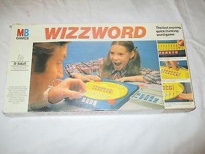 Vintage 1977 Mb Games - Wizzword - Board Game - Word Game