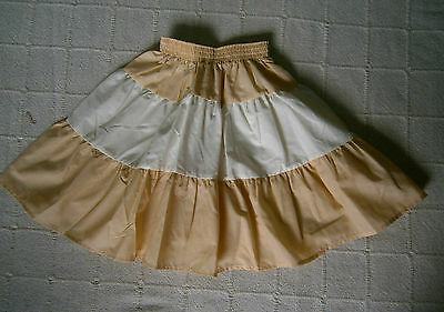 Vintage Summer Skirt - Age 6/8 Years Approx - Tiered Banana & Cream - New
