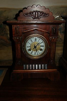 Antique Mantle  Clock Pos` 1900`s Working
