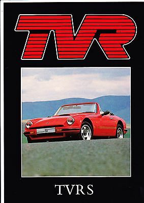 TVR 2.9 S Brochure - 1988 -  Mint Condition