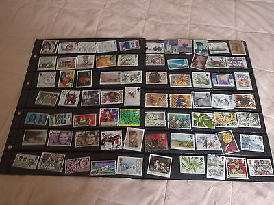 Used POSTAGE STAMPS VARIOUS  VALUES ALL DIFFERENT