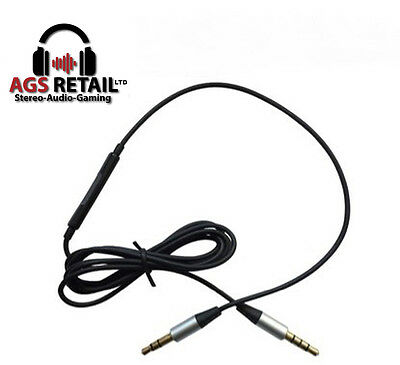 1.2m Audio Cable For Skullcandy Crusher AVIATOR2.0 headphone with Mic and Remote