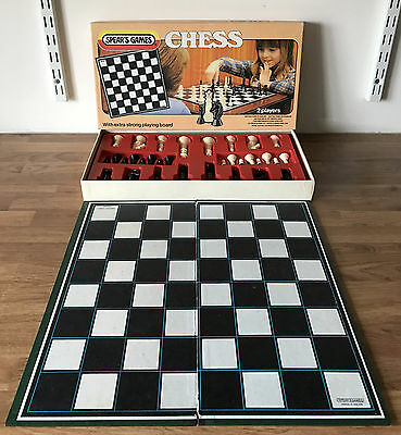 SPEARS Vintage 1983 MCMLXXXIII CHESS Board Game Ref: 1545