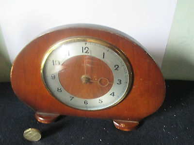 "Superb Little Windup Mecanical Mantle Clock by ""SMITHS""- Made in England"