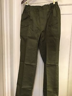 BOY SCOUT UNIFORM PANTS ADULT SIZE 36 WAIST - ACTION FIT New With Tags NWT