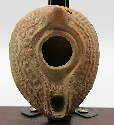 Excellent Western Asiatic Holy Land Ceramic Oil Lamp 3rd-5th century AD