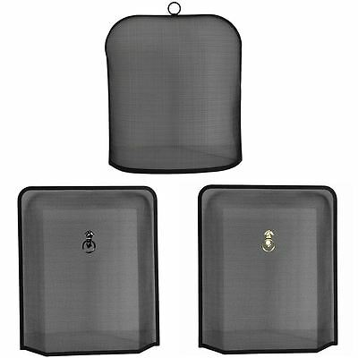 Fire Screen Guard Protector Spark Cover Fireside Shield Black By Home Discount
