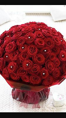 Fresh Flowers. 70 Luxury Red Roses. Free Delivery Redhill-Croydon