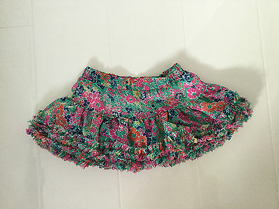 Girls Joules Clothing Ditsy Floral Full Layered Skirt–Green,pink,blue,pink-Age 4