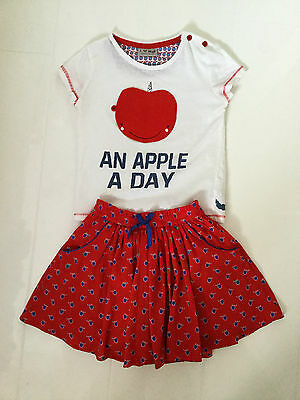 Next Red White & Blue 'An Apple A Day' Outfit – Skirt And T-Shirt – Age 3-4 Yrs