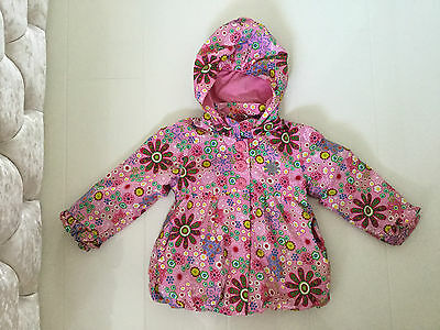 Me Too Pink Floral Design Rebitta Puffball Style Jacket With Removable Hood 3 Yr