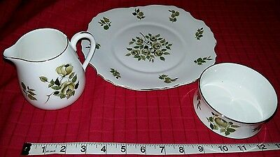 Fine Bone China Crown plate, dish and jug
