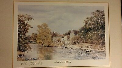 Limited edition print by Brian Richardson 368/500 'River Rye, Helmsley'