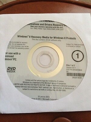 System Recovery DVD Application Driver Recovery LENOVO T440 T440s HX233 last one
