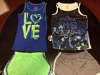 Lot Of 4 Girl's Size 12 Shorts And Tank Tops By Justice And So