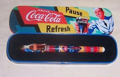 ~~ Coca - Cola ~~  1996 Coke Ball Point Penn With Metal Case Unused
